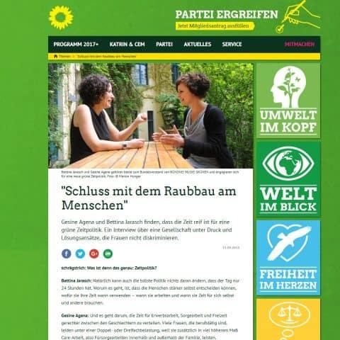 Bettina Jarasch und Gesine Agena im Gespräch
