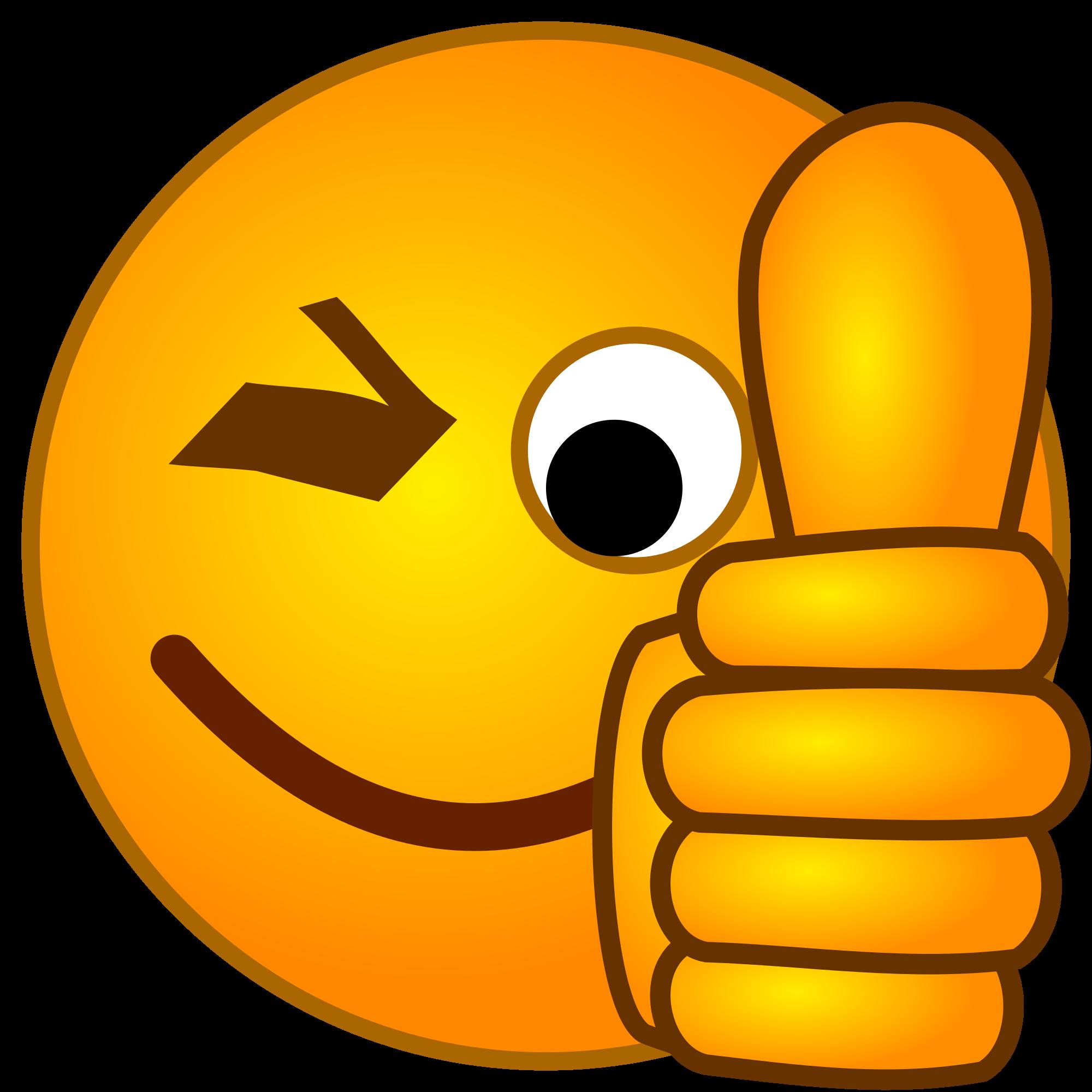 Emoji mit Daumen hoch